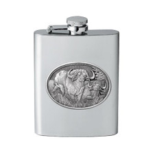 Cape Buffalo Flask | Heritage Pewter | HPIFSK121