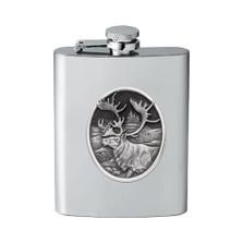 Caribou Flask | Heritage Pewter | HPIFSK211