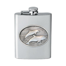 Dolphin Flask | Heritage Pewter | HPIFSK135
