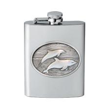 Dolphin Flask | Heritage Pewter | HPIFSK135
