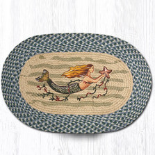 Mermaid Oval Braided Rug | Capitol Earth Rugs | OP-245