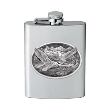 Eagle Flask | Heritage Pewter | HPIFSK109