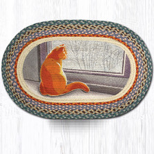 Cat Oval Braided Rug | Capitol Earth Rugs | OP-250