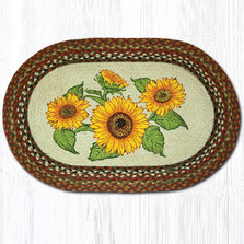 Sunflowers Oval Braided Rug | Capitol Earth Rugs | OP-300