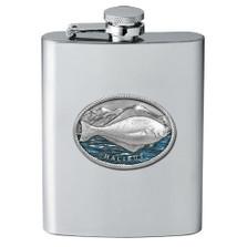Halibut Fish Flask   Heritage Pewter   FSK4269EB