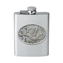 Hummingbird Flask | Heritage Pewter | HPIFSK134