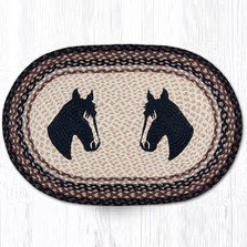 Horse Portrait Oval Braided Rug | Capitol Earth Rugs | OP-313HP