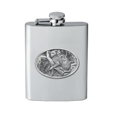 Leopard Flask | Heritage Pewter | HPIFSK137