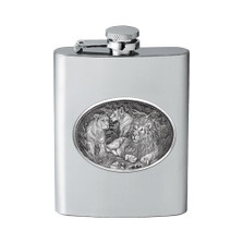 Lion Flask | Heritage Pewter | HPIFSK119