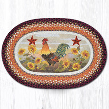 Rooster Oval Braided Rug | Capitol Earth Rugs | OP-391