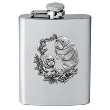 Manatee Flask | Heritage Pewter | HPIFSK4110