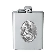 Mermaid Flask | Heritage Pewter | HPIFSK4272