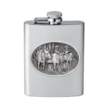 Moose Flask | Heritage Pewter | HPIFSK103
