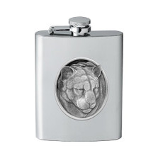 Mountain Lion Flask | Heritage Pewter | HPIFSK208