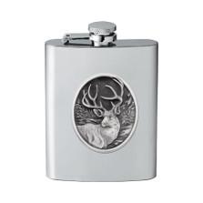 Mule Deer Flask | Heritage Pewter | HPIFSK210
