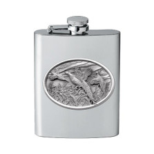 Pheasant Flask | Heritage Pewter | HPIFSK123