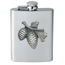 Pine Cone Flask | Heritage Pewter | HPIFSK3022