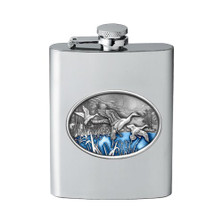 Pintail Duck Flask | Heritage Pewter | HPIFSK125EB