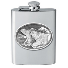 Polar Bear Flask | Heritage Pewter | HPIFSK112