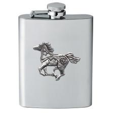 Tribal Horse Flask | Heritage Pewter | HPIFSK4229