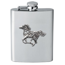 Tribal Horse Flask | Heritage Pewter | HPIFSK4229