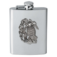 Sea Turtle Flask | Heritage Pewter | HPIFSK4146