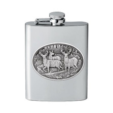 Whitetail Deer Flask | Heritage Pewter | HPIFSK114