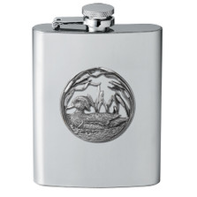 Wood Duck Flask | Heritage Pewter | HPIFSK4085