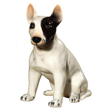 Bull Terrier Ceramic Dog Sculpture | Intrada Italy | ANI1222