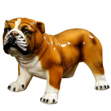 Bull Ceramic Dog Sculpture | Intrada Italy | ANI1211