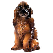 Brown Cocker Spaniel Ceramic Dog Sculpture | Intrada Italy | ANI2304
