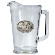 Cape Buffalo Beer Pitcher | Heritage Pewter | HPIPI1121