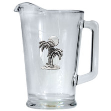 Palm Tree Beer Pitcher | Heritage Pewter | HPIPI4216