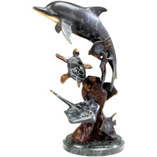 Dolphin and Friends Sculpture | 30299 | SPI Home