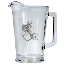"""Quarter Horse Beer Pitcher """"By a Nose"""" 