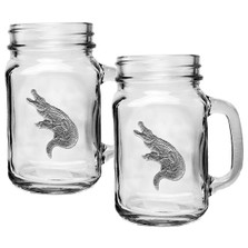 Alligator Mason Jar Mug Set of 2 | Heritage Pewter | HPIMJM3770