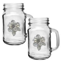 Apple Blossom Mason Jar Mug Set of 2 | Heritage Pewter | HPIMJM4278