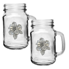 Apple Blossom Mason Jar Mug Set of 2 | Heritage Pewter | HPIMJM4278