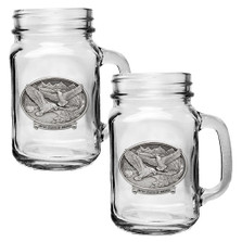 Bald Eagle Mason Jar Mug Set of 2 | Heritage Pewter | HPIMJM109USA