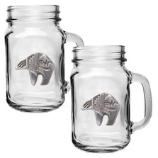 Bear Tribal Mason Jar Mug Set of 2 | Heritage Pewter | HPIMJM3999