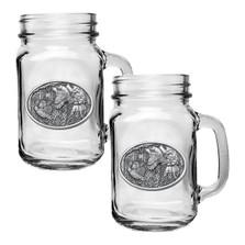 Bobwhite Quail Mason Jar Mug Set of 2 | Heritage Pewter | HPIMJM130