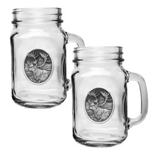 Caribou Mason Jar Mug Set of 2 | Heritage Pewter | HPIMJM211