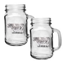 Cow Mason Jar Mug Set of 2 | Heritage Pewter | HPIMJM3790