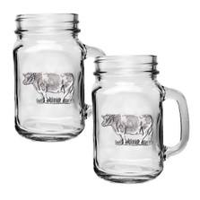 Cow Mason Jar Mug Set of 2 | Heritage Pewter | HPIMJM3790