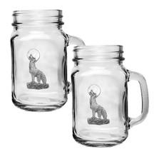 Coyote Mason Jar Mug Set of 2 | Heritage Pewter | HPIMJM3130