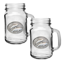 Dolphin Mason Jar Mug Set of 2 | Heritage Pewter | HPIMJM135