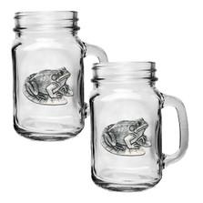 Frog Mason Jar Mug Set of 2   Heritage Pewter   HPIMJM4114