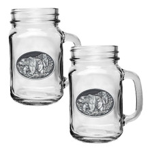 Grizzly Bear Mason Jar Mug Set of 2 | Heritage Pewter | HPIMJM105