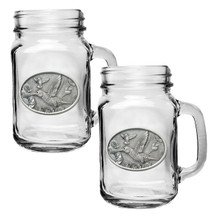 Hummingbird Mason Jar Mug Set of 2 | Heritage Pewter | HPIMJM134