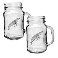 Humpback Whale Mason Jar Mug Set of 2 | Heritage Pewter | HPIMJM3380